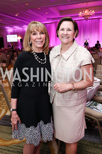 Co-Chairs Barbara McDuffie and Janet Davis. Photo by Tony Powell. 14th Annual Women & Wine. Ritz Tysons. April 24, 2019