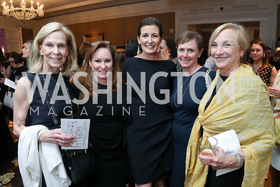 Beth Eirich, Susan Freimanis, Diane Ray Brown, Kim Wimberly, Beryl Morelle. Photo by Tony Powell. 14th Annual Women & Wine. Ritz Tysons. April 24, 2019