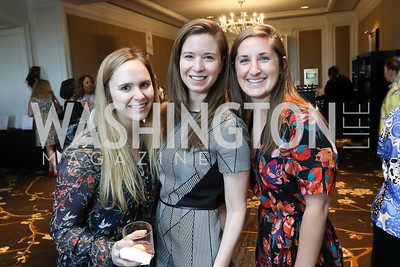 Catherine Potter, Tess Rowell, Shelby Smith. Photo by Tony Powell. 14th Annual Women & Wine. Ritz Tysons. April 24, 2019