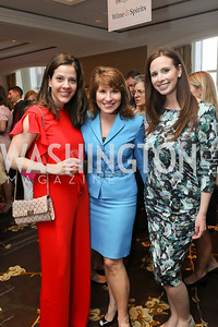 Valerie Kelly, Dayna Kuchar, Jenna Jacobson. Photo by Tony Powell. 14th Annual Women & Wine. Ritz Tysons. April 24, 2019
