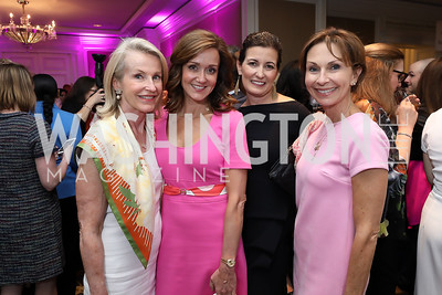 Catherine Jones, Jennifer Bognet, Diane Ray Brown, Debbie Killeen. Photo by Tony Powell. 14th Annual Women & Wine. Ritz Tysons. April 24, 2019
