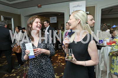 Mary Grace Oakes, Ashley Houk. Photo by Tony Powell. 14th Annual Women & Wine. Ritz Tysons. April 24, 2019