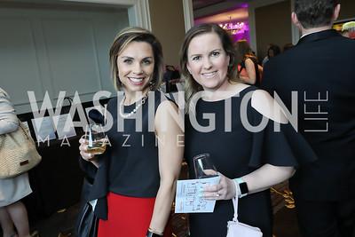 Jenn Wappaus, Grace McDaniel. Photo by Tony Powell. 14th Annual Women & Wine. Ritz Tysons. April 24, 2019