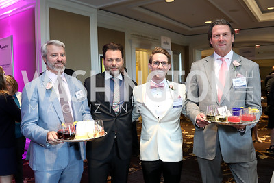 Conor Miller, Jason Kampf, Andrew Lindsey, Tim Watkins. Photo by Tony Powell. 14th Annual Women & Wine. Ritz Tysons. April 24, 2019