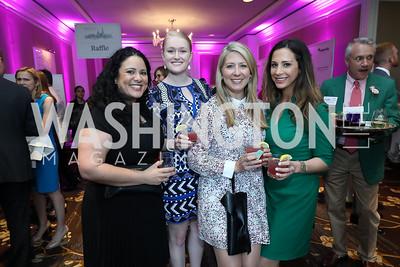 Jocelyn Nelson, Corinne Brady, Christie Minch, Hailey Morris. Photo by Tony Powell. 14th Annual Women & Wine. Ritz Tysons. April 24, 2019