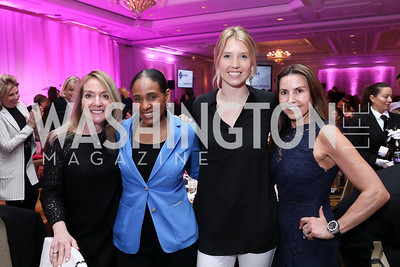 Mara Olguin, Sherrelle Osborne, Sara Beckstead, Georgia Cogar. Photo by Tony Powell. 14th Annual Women & Wine. Ritz Tysons. April 24, 2019
