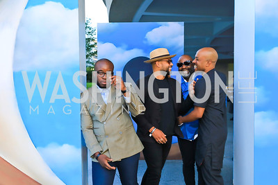 Yaw Agyeman, Mikel Patrick Avery, Theaster Gates, Ben Lamar Gay. Photo by Tony Powell.1st Annual Hirshhorn Ball. June 15, 2019