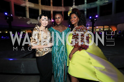 Melissa Chiu, Pussy Noir, Aba Kwawu. Photo by Tony Powell.1st Annual Hirshhorn Ball. June 15, 2019