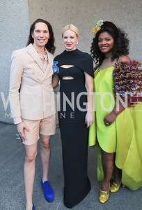 Di Mondo, Polina Proshkina, Aba Kwawu. Photo by Tony Powell.1st Annual Hirshhorn Ball. June 15, 2019
