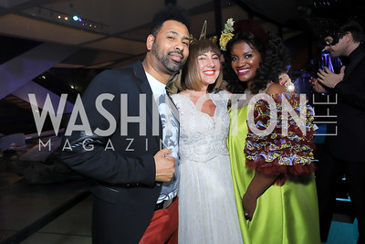 Adrian Loving, Kristin Guiter, Aba Kwawu. Photo by Tony Powell.1st Annual Hirshhorn Ball. June 15, 2019