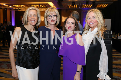 Stuart Allen, Jacqui Michel, Allyson Waldrep, Andrea Rinaldi. Photo by Tony Powell. 2019 N Street Village Gala. Marriott Marquis. March 14, 2019