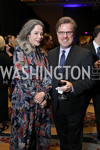 Heather Podesta, Robert Hoffman. Photo by Tony Powell. 2019 N Street Village Gala. Marriott Marquis. March 14, 2019