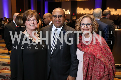 Mary McCullough, Scott Bolden, Tara Bloch. Photo by Tony Powell. 2019 N Street Village Gala. Marriott Marquis. March 14, 2019