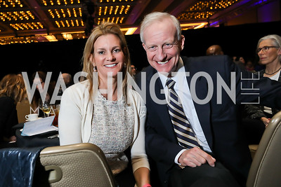 Katharine Weymouth, Jack Evans. Photo by Tony Powell. 2019 N Street Village Gala. Marriott Marquis. March 14, 2019