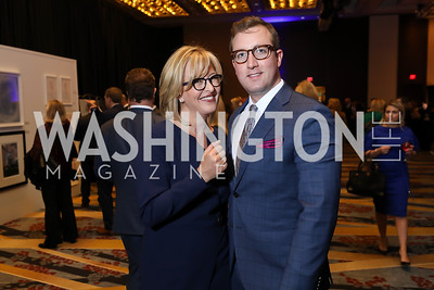 Jacqui Michel, Adam Brinkley. Photo by Tony Powell. 2019 N Street Village Gala. Marriott Marquis. March 14, 2019