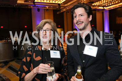 Cindy Aron, Julian Patterson. Photo by Tony Powell. 2019 N Street Village Gala. Marriott Marquis. March 14, 2019