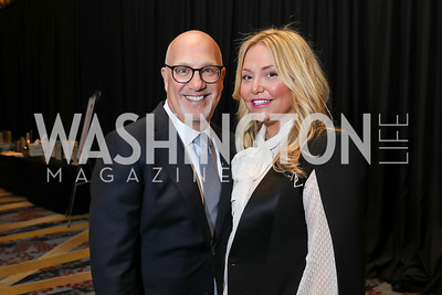 Peter and Andrea Rinaldi. Photo by Tony Powell. 2019 N Street Village Gala. Marriott Marquis. March 14, 2019