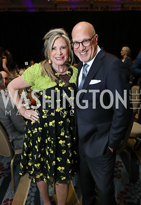 Tina Alster, Peter Rinaldi. Photo by Tony Powell. 2019 N Street Village Gala. Marriott Marquis. March 14, 2019