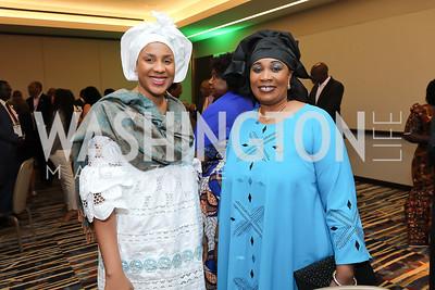Aissata Haidara, Seynabou Diop. Photo  by Tony Powell. 2019 Africa Day Celebration. Marriott Marquis. May 23, 2019
