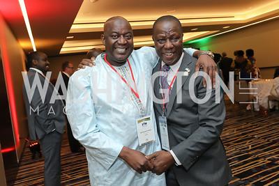 Gambia Amb. Dawda Fadera, Sierra Leone Amb. Sidique Abu Bakarr Wai. Photo  by Tony Powell. 2019 Africa Day Celebration. Marriott Marquis. May 23, 2019
