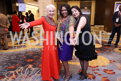 Jan Du Plain, Joy Gacuga, Allyson Browne McKithen. Photo  by Tony Powell. 2019 Africa Day Celebration. Marriott Marquis. May 23, 2019