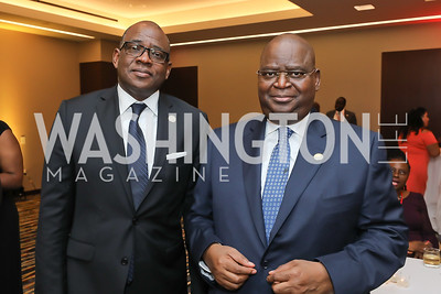 Côte d'Ivoire Amb. Haidara Mamadou, Congo Amb. Serge Mombouli. Photo  by Tony Powell. 2019 Africa Day Celebration. Marriott Marquis. May 23, 2019