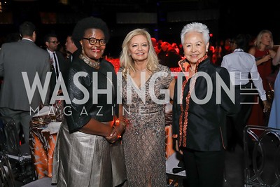 Nomonde Nolutshungu, Candace Sahm, Virginia Lee. Photo by Tony Powell. 2019 Ambassadors Ball. The Anthem. September 10, 2019
