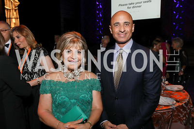 Annie Totah, UAE Amb. Yousef Al Otaiba. Photo by Tony Powell. 2019 Ambassadors Ball. The Anthem. September 10, 2019