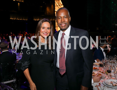 Carole Crist, Sec. Ben Carson. Photo by Tony Powell. 2019 Ambassadors Ball. The Anthem. September 10, 2019