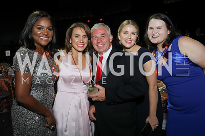 Tami Buckner, Cristina Antelo, Gino Duda, Anna Trevino, Lucia Alonzo. Photo by Tony Powell. 2019 Ambassadors Ball. The Anthem. September 10, 2019