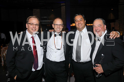 Chris Nevers, Dave Schwietert, Richard Lopez, Mitch Bainwol. Photo by Tony Powell. 2019 Ambassadors Ball. The Anthem. September 10, 2019