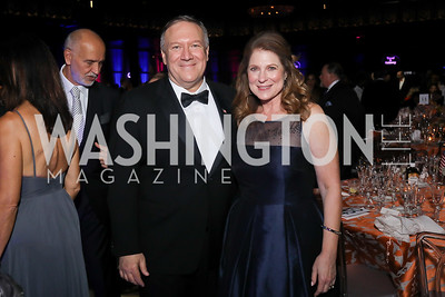 Sec. Mike Pompeo and Susan Pompeo. Photo by Tony Powell. 2019 Ambassadors Ball. The Anthem. September 10, 2019
