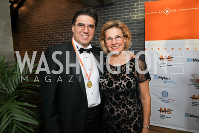 Bulgaria Amb. Tihomir Stoytchev and Lubka Stoytchev. Photo by Tony Powell. 2019 Ambassadors Ball. The Anthem. September 10, 2019