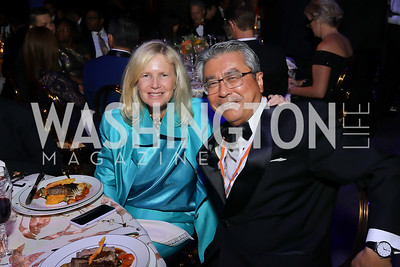 Susan Blumenthal, Japan Amb. Shinsuke Sugiyama. Photo by Tony Powell. 2019 Ambassadors Ball. The Anthem. September 10, 2019