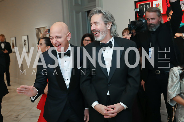 """Portrait of a Nation Prize"" recipient Jeff Bezos, Artist Robert McCurdy. Photo by Tony Powell. 2019 American Portrait Gala. NPG. November 17, 2019"