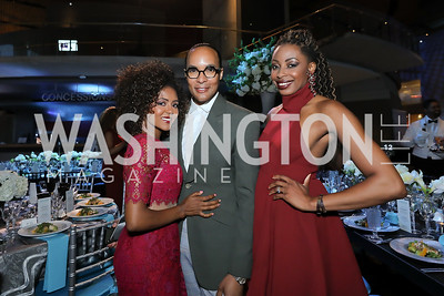 Mele Melton, Paul Wharton, Joy Kingsley-Ibeh. Photo by Tony Powell. 2019 Arena Stage Gala. May 21, 2019