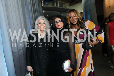 Barbara Hawthorn, Marcia Dyson, Bershan Shaw. Photo by Tony Powell. 2019 Arena Stage Gala. May 21, 2019
