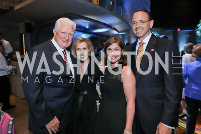 Jim Moran, Connie Morella, Lisa Barsoomian and Rod Rosenstein. Photo by Tony Powell. 2019 Arena Stage Gala. May 21, 2019
