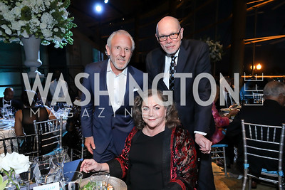 Monty Hoffman, Kathleen Turner, Edgar Dobie. Photo by Tony Powell. 2019 Arena Stage Gala. May 21, 2019