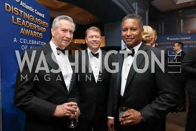 Tony Aldwell, Joe Roxey, John Harris. Photo by Tony Powell. 2019 Atlantic Council Awards. Ritz Carlton. April 30, 2019