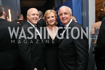 Mayor Mitch Landrieu, Lourdes and Carlos Gimenez. Photo by Tony Powell. 2019 Atlantic Council Awards. Ritz Carlton. April 30, 2019