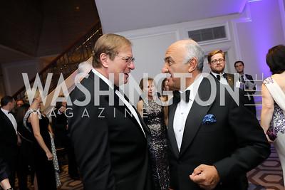 Fred Kempe, Philippe Amon. Photo by Tony Powell. 2019 Atlantic Council Awards. Ritz Carlton. April 30, 2019