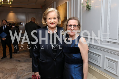 Sharon Rockefeller, Annie Boutin King. Photo by Tony Powell. 2019 Atlantic Council Awards. Ritz Carlton. April 30, 2019