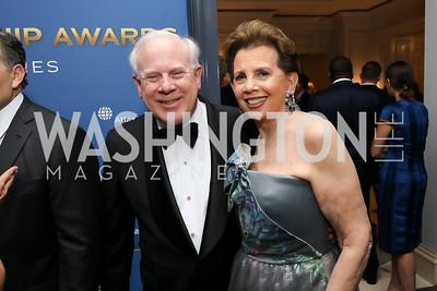John Rogers, Adrienne Arsht. Photo by Tony Powell. 2019 Atlantic Council Awards. Ritz Carlton. April 30, 2019
