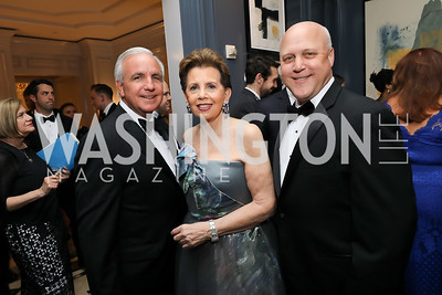 Carlos Gimenez, Adrienne Arsht, Mayor Mitch Landrieu. Photo by Tony Powell. 2019 Atlantic Council Awards. Ritz Carlton. April 30, 2019
