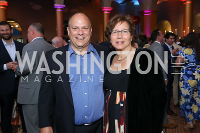 TD Bank Regional Pres. Brian Monday, Donna Grigsby. Photo by Tony Powell. 2019 National Building Museum Gala. May 29, 2019