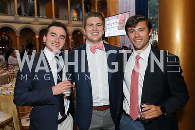 Dylan Bennett, Eddie Mansius, Woody Axelson. Photo by Tony Powell. 2019 National Building Museum Gala. May 29, 2019