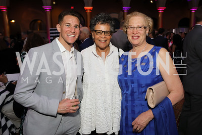 Jeff Goldberg, Charlene Drew Jarvis, Carol Thompson Cole. Photo by Tony Powell. 2019 National Building Museum Gala. May 29, 2019