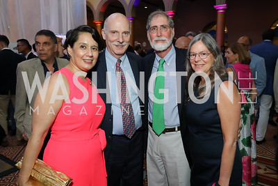 Anna Harvey and DC Council Chair Phil Mendelson, Richard and Janice Newman. Photo by Tony Powell. 2019 National Building Museum Gala. May 29, 2019