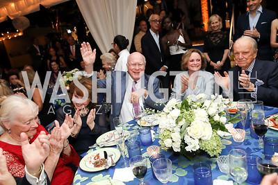 Marcelle Leahy, Ann Hand, Pat Leahy, Elizabeth Stevens, George Stevens. Photo by Tony Powell. 2019 Cafritz Welcome Back from Summer. September 8, 2019